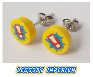 da8c8db3ca875 Details about LEGO Custom Stud Earrings - Exclamation Point pattern - FREE  POST
