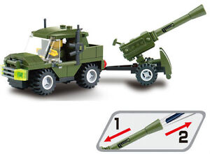 The military cannons vehicle of the building blocks military series 6041