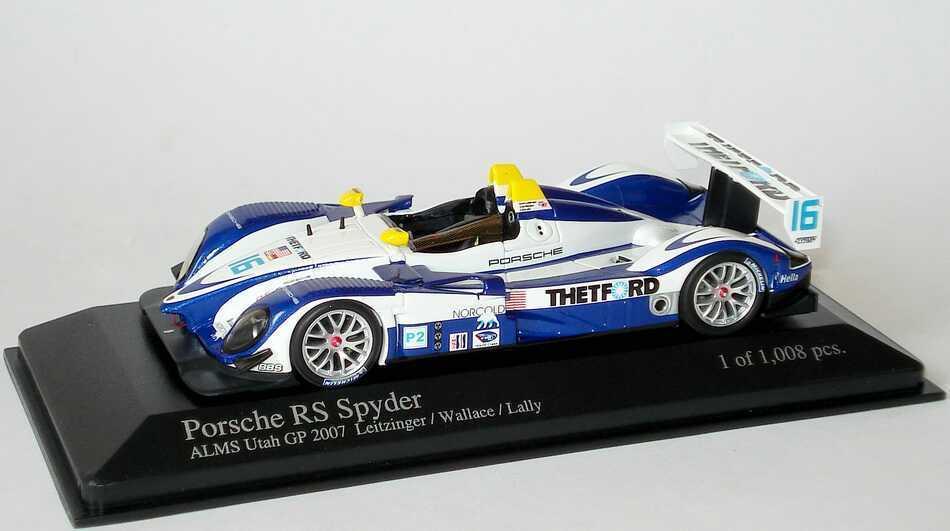 1 43 Porsche RS Spyder ALMS 2007 Utah GP Thetford Nr.16 Leitzinger Wallace Lally  | Qualität und Quantität garantiert