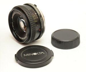 Minolta-MC-Rokkor-PF-50mm-F2-Lens-For-Minolta-MD-Mount-Good-Condition
