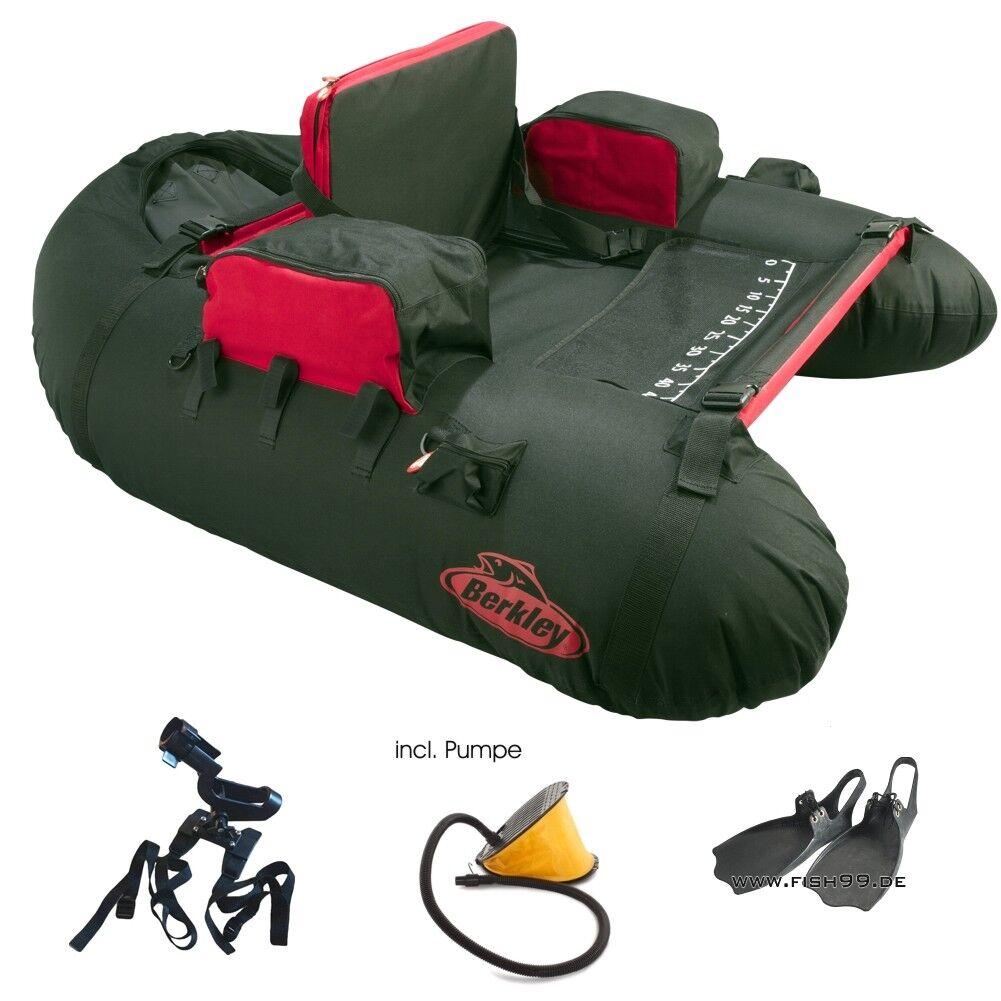 Berkley belly boat completo-set con soporte para cañas + bomba + + cañas aletas d79225