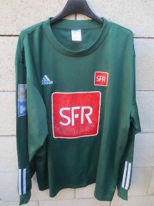 VINTAGE-Maillot-COUPE-de-FRANCE-porte-n-13-vert-SFR-PITCH-manches-longues-XL