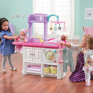 Kids Play Set Girl Child Gift Toy Care Nursery Feeding Station Pretend Game Toys