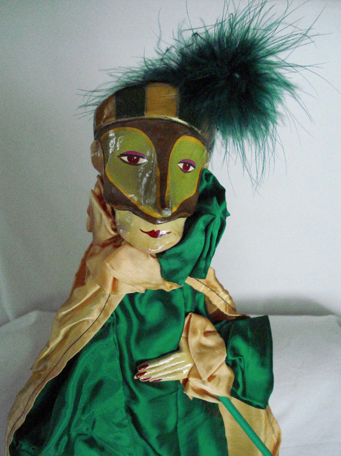 España  Vintage MARIONETA Arte Muñeca Marioneta-pulliciniello habla Zanni 23