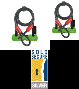 Abus Ultra 410 Mini Cable D-Lock-Negro, 140 mm