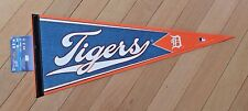 DETROIT TIGERS full-size felt script PENNANT licensed by MLB -  Mint on Card NWT