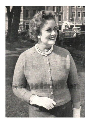 Knitting Pattern Lady/'s Vintage 1950s Cardigan Size 40-42 Inch Bust