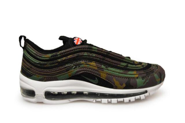 Mens Nike Air Max 97 Premium QS AJ2614 201 Green Black Trainers