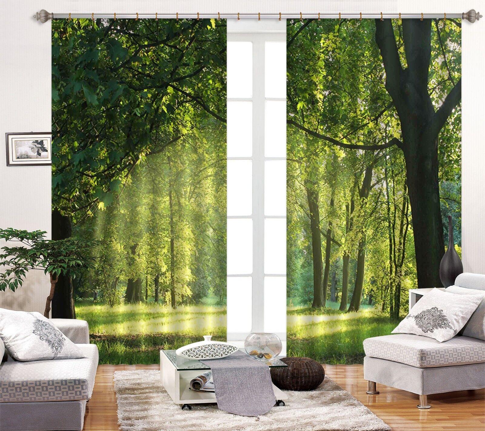 3d bosques hierba bloqueo 57 cortina de fotografía presión cortinas cortina de tela de ventana