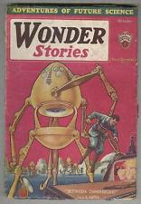 Wonder Stories October 1931 VG Frank Paul cover