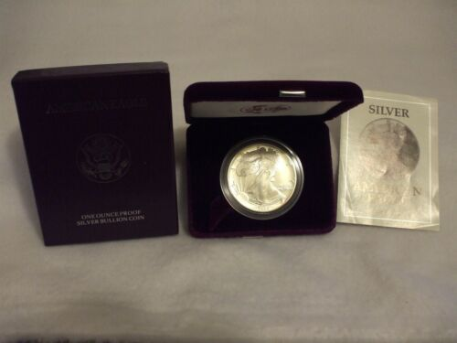 1992-S Proof American Silver Eagle Coin One Troy oz .999 Bullion