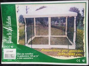 Zanzariera teli per struttura gazebo giardino anti zanzare for Teli per stagni