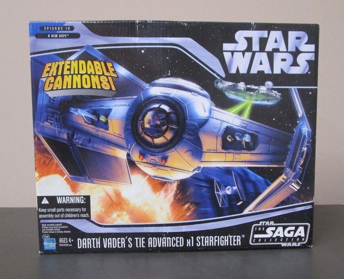 Darth Vader's Tie Advanced x1 Estrellafighter Estrella Wars Saga Colección MIB