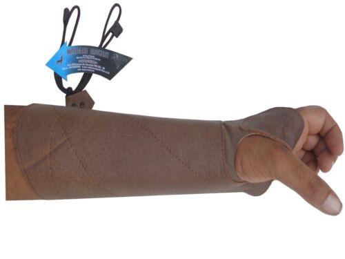 Ulule Arm Guard made with Antique cuir de vache Archery Products AG8400 L-Main.