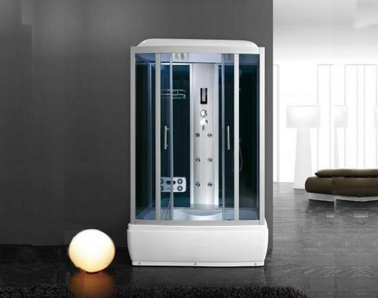Cabina idromassaggio box doccia con vasca 125x85 con o senza bagno turco  111