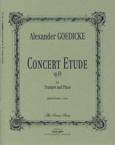 GOEDICKE CONCERT ETUDE Op49 Trumpet /& Piano