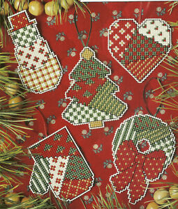 Plastic Canvas Christmas.Details About Patchwork Plastic Canvas Christmas Ornaments Cross Stitch Patterns From Magazine