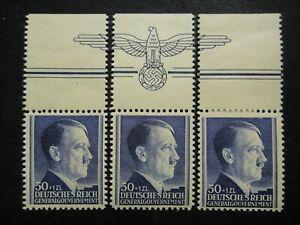 Germany Nazi 1942 Stamps MNH / MH Adolf Hitler 53rd birthday Swastika Eagle WWII