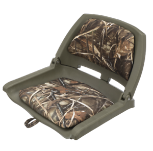 Camo Boat Seats Clearance Fishing Heavy Duty Camouflage Padded Flip Chair Fold Ebay