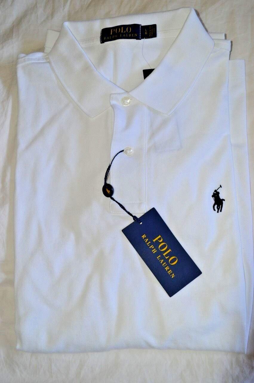 90 Neuf avec étiquettes POLO RALPH LAUREN grand luxe stretch maille à hommeches courtes Polo Shirt