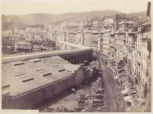 Genova Italia Foto Giorgio Sommer Vintage Albumina Ca 1870
