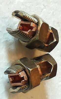 LOT OF 4 BKB 470-1//0 AWG AL9CU SPLIT BOLT  B214