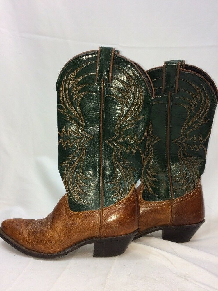 Laredo Women's Cowboy Boots Two-Tone size 5.5 M - Made in USA