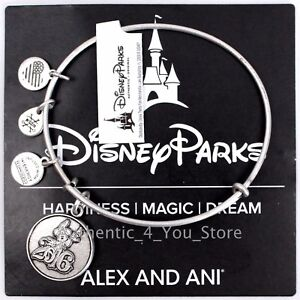 NEW-Disney-Parks-ALEX-AND-ANI-2016-Sorcerer-Mickey-Mouse-SILVER-Bangle-Bracelet