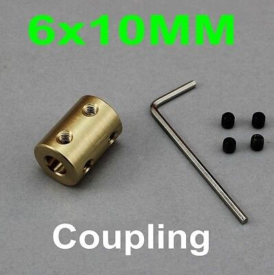 1PCS 6x10MM Rigid Coupling Copper Shaft Coupling Coupler Motor Transmission