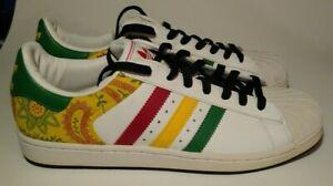 Adidas Superstar Rasta Sneakers Size 10