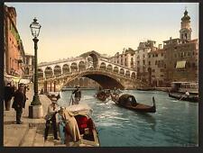 The Rialto Bridge Ii Venice A4 Photo Print