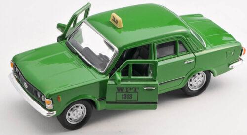BLITZ VERSAND Fiat 125p TAXI WPT grün green 1:34 Welly Modell Auto NEU /& OVP