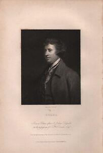 1834 Georgianisch Porträt Aufdruck ~ Burke