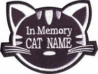 In Memory Of Custom Cat Name (black) Embroidered Patch