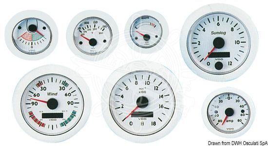 OSCULATI Drehzahlmesser DIESEL RPM 24V 0/4000 24V RPM weiß 00208f