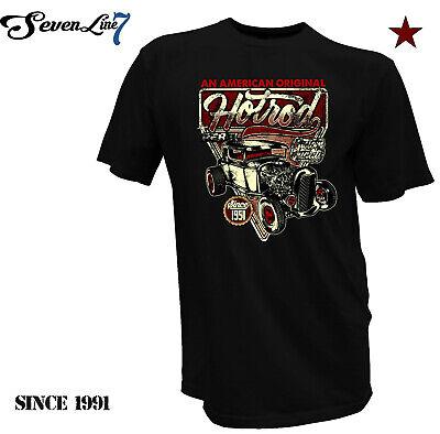100% QualitäT Hot Rod Classic V8 Hellcat Herren T-shirt Biker Tattoo Custom Rockabilly Style