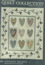 QUILT PATTERN-The City Stitcher Quit Collection #30 Layered Hearts