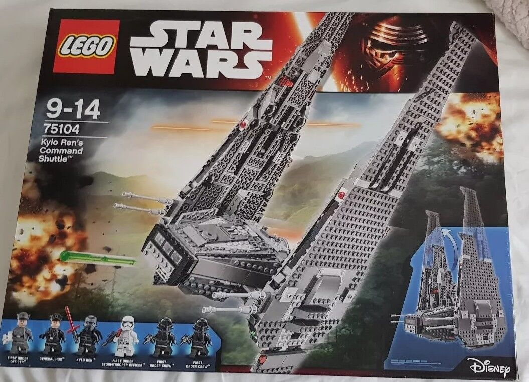 Lego Wars 75104 Kylo Rens Command Shuttle New Sealed Age 9 14