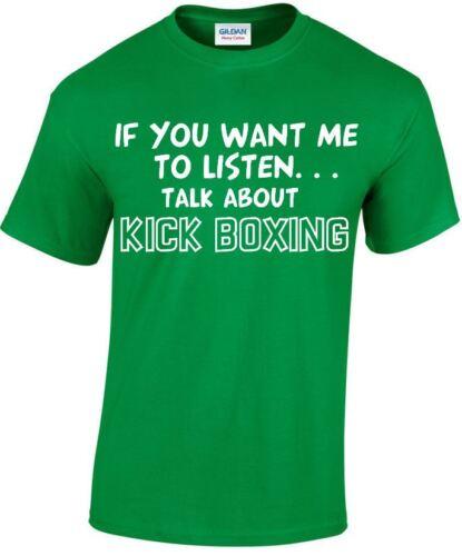 Parler de Kick Boxing Drôle T-shirt homme cadeaux Boxe T-shirts jusqu/'à 5XL MT151