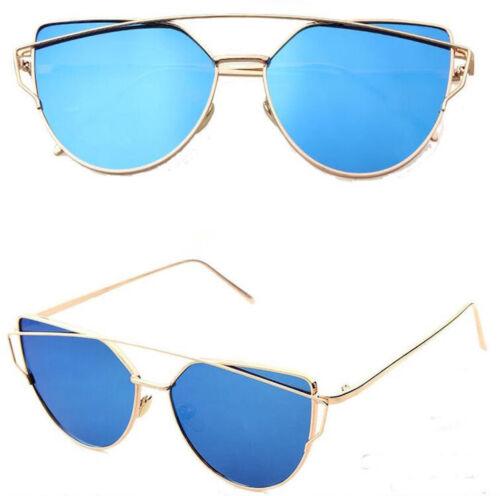 ACE Cateye Damen Sonnenbrille Retro Verspiegelt Rosagold Vintage Blogger Trend