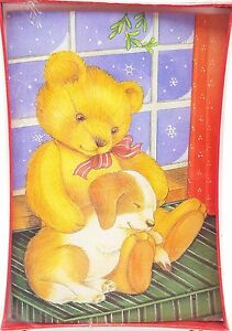 Christmas-Holiday-Cards-Teddy-Bear-Puppy-Pals-18ct-New