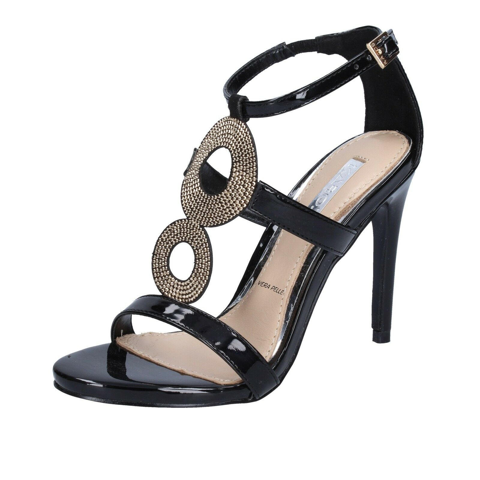 Women's shoes IKAROS 6 (EU 36) sandals black patent leather BT762-36