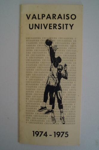 Vintage Basketball Media Presse Guide Valparaiso Université 1974 1975