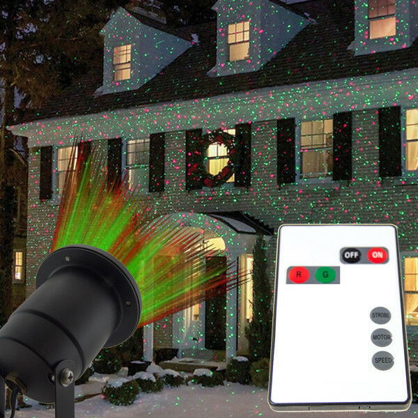 Waterproof IP65 Green and Red Star Show Laser Projector with IR Remote
