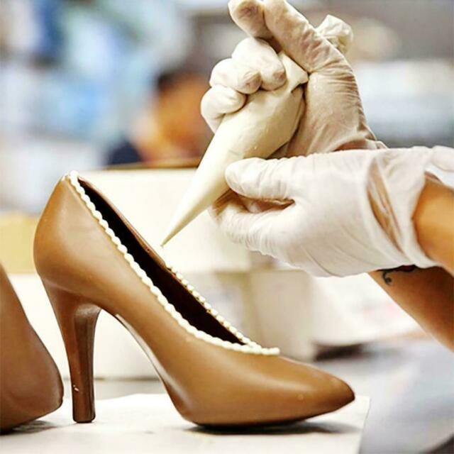 DIY High Heel Shoe Chocolate Candy Cake Baking Mould Mold 3D Soap Decor Jel G8E0