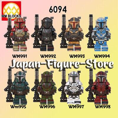 SET 8 New Star Heavy Infantry Mandalorian PAZ VIZLA Minifigure Lego MOC Toys Kid