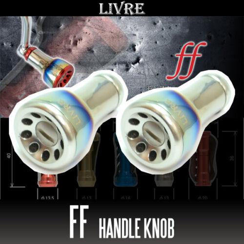 Fortissimo Titanium Handle Knob 2 pieces FIRE TITANIUM LIVRE ff