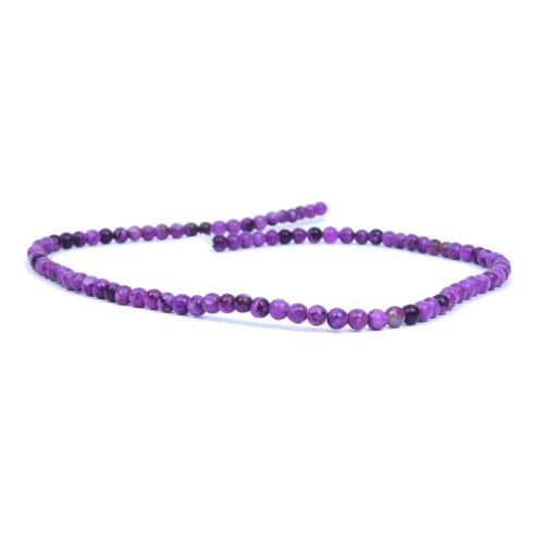 Loose Beads Stone Sugilite Mineral Round 4mm Violet Y8L4