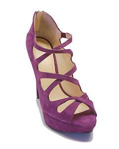 New! GUESS $115 Purple Suede Platform Heels ASHMERE Women's Shoes ...