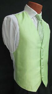 4848ef0d47cb Mens Capri Mint Green Jean Yves Tuxedo Vest & Tie Paisley Wedding ...
